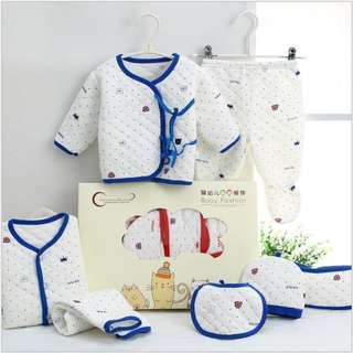 Warm Blue Baby clothes newborn gift set 0-3 months