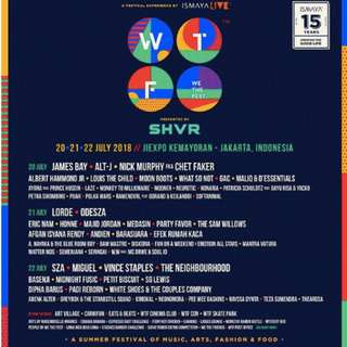 Tiket We The Fest 2018 - 2-Day Pass, 20 & 22, bukan early entry