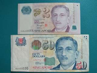 🚚 S'pore $2 & $50 (Special 2 Digits RADAR)