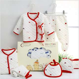 Warm Red Baby clothes newborn gift set 0-3 months
