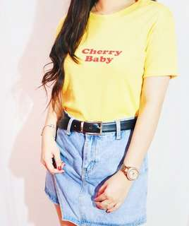 Cherry Baby Crop Top