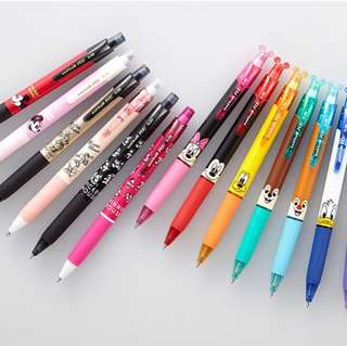 <ready stock>Japan Disney Uni-ball R:E frixion pen black ink