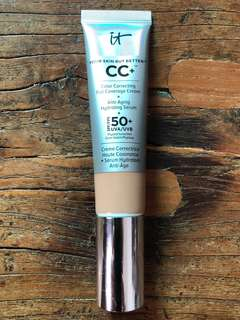 IT Cosmetics CC+ Colour Correcting Cream + Anti-Aging Hydrating Serum - Tan shade