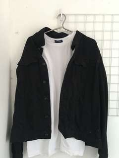 Denim Jacket ( black)