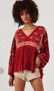 BNWT Spell & The Gypsy Designs Jewel Smock Blouse