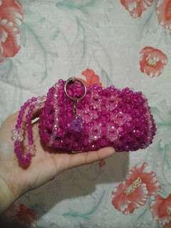 Pink sparklig wallet