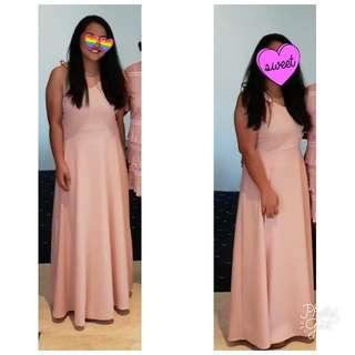 Soft Peach Long Gown