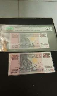 $2 Ship BN~Replacement Note ~(H&S)( Super Gem UNC)
