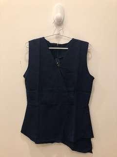 Yuan top navy blue