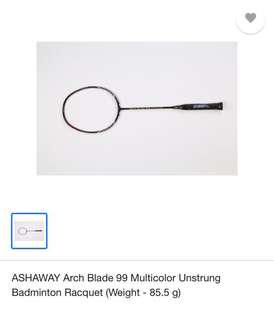 Ashaway Archblade 99 Badminton Racquet with carrying case