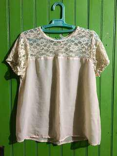 Soft Peach Lacey Blouse