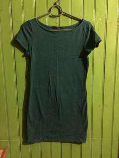 Dark Green Fitted Dress Shirt