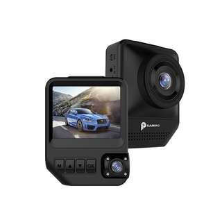 Brand new car dash camera, dual lens, outside and inside recording. Uber driver and taxi driver use