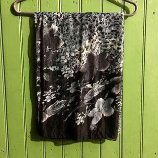 Sheer black and grey sarong/beach cover up