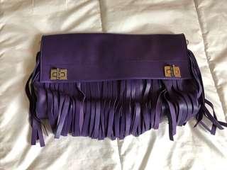 Prada purple leather bag