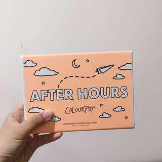 🚚 colourpop after hours super shock shadow collection