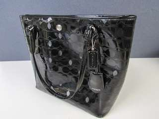 Coach bag Peyton Signature Patent Leather Black (Tote Bag)