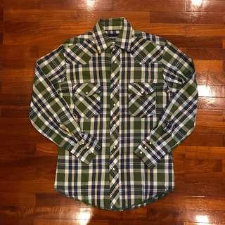 Wrangler Western Shirt Green Checks Small
