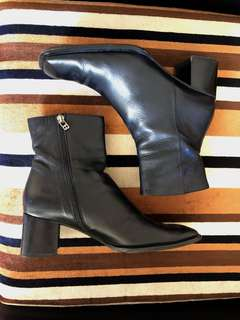 Vintage Bally Black Leather Boots