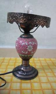 Table Lamp (electric, metal structures n body ceramic)
