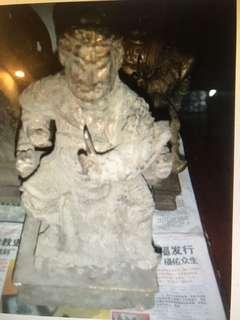 Camphorwood Antique Deity statue