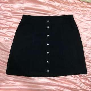H&M button down faux skirt