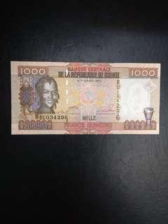 Guinea republic 1000 guinee 2006 issue