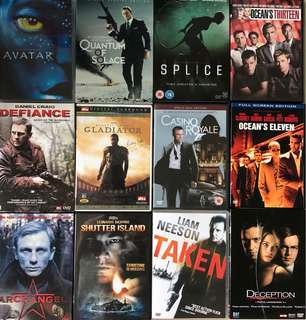 46 Action Blockbuster DVDs