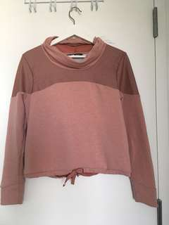 Pink NorthFace Cropped Sweater