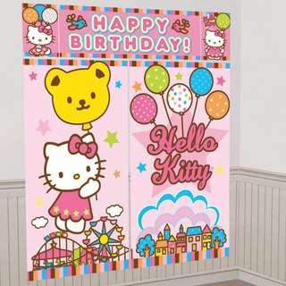 🚚 (In Stock)  Hello Kitty Balloon Dreams Scene Setter