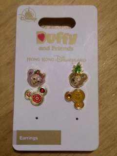 (包郵)Disney duffy ShellieMay earrings 耳環