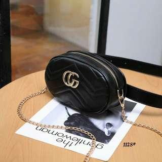 Tas Gucci Belt Bag Crosbody Gold Kode : HDW 1128 Semi Premium.