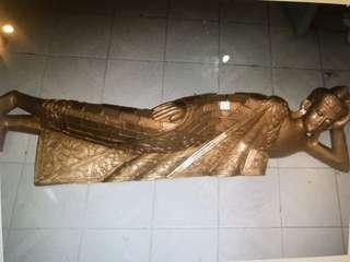 Wooden sleeping Buddha 110cm