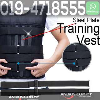 bd7215a1dcc In-Stock✓Weighted Vest Training Jacket Jogging Hiking Exercise 5kg 10kg