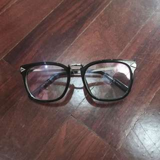 Black Frame Nerdy Glasses NO POWER