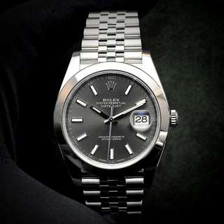 CHEAP! LNIB ROLEX DATEJUST 41 STEEL DARK RHODIUM 126300 WARRANTY LOCAL AD 2017 S$10040