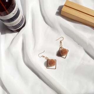 毛球長款耳環earrings