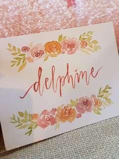 Watercolour Customizable Cards