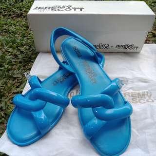 Melissa tube sandal + jeremy scott (blue) cuma 2x pakai masih wangi