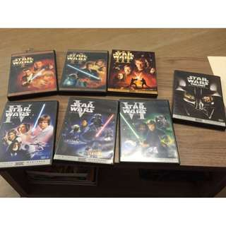 Star Wars DVDs (Epi. 1-6 + Bonus DVD) (內地版)