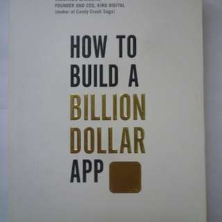 How To Build A Billion Dollar APP (BOOK)