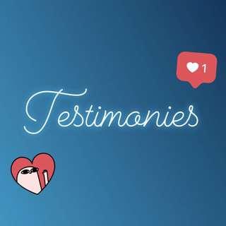 New testimonies