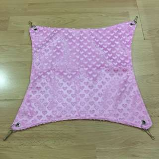 Pink furry Hammock