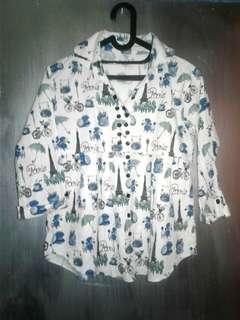 Kemeja blouse lucu