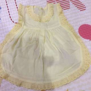 Dress baby yellow