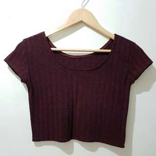 Marsala Cropped Top