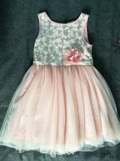 H&M sequin and tulle sleeveless party princess dress