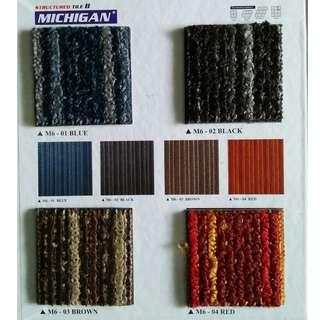 Karpet tile berbagai macam warna
