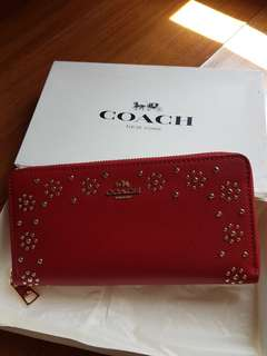 Coach wallet zipper RED