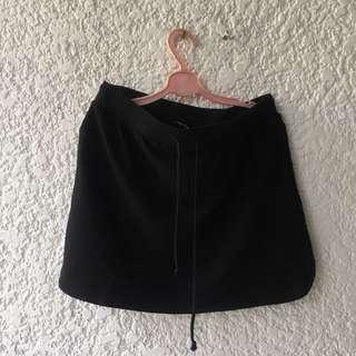 Zalora Black Sporty Mini Skirt